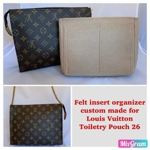 Other - Felt insert organizer shaper FOR LV Toiletry Pouch